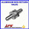10mm (3/8) Straight Non Return Valve Aluminium - Fuel Check Valve Air Water Pipe Tube Hose